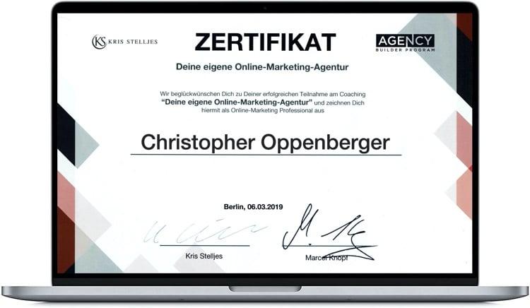 O.M.A. Zertifikat CO